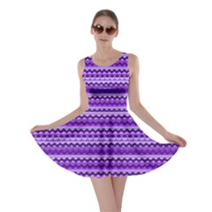 Purple Tribal Pattern Skater Dresses