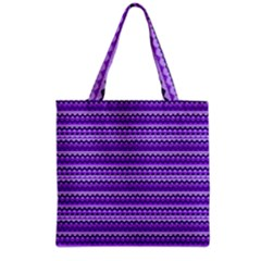 Purple Tribal Pattern Grocery Tote Bags