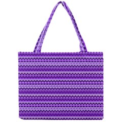 Purple Tribal Pattern Tiny Tote Bags