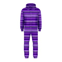 Purple Tribal Pattern Hooded Jumpsuit (Kids)