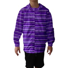 Purple Tribal Pattern Hooded Wind Breaker (Kids)