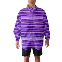 Purple Tribal Pattern Wind Breaker (Kids)