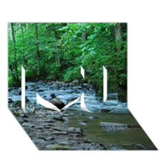 ROCKY STREAM I Love You 3D Greeting Card (7x5)