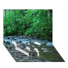 ROCKY STREAM LOVE Bottom 3D Greeting Card (7x5)