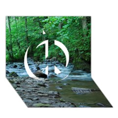 Rocky Stream Peace Sign 3d Greeting Card (7x5)