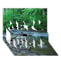 ROCKY STREAM Get Well 3D Greeting Card (7x5)