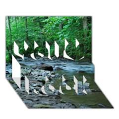 Rocky Stream You Rock 3d Greeting Card (7x5)