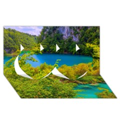 PLITVICE, CROATIA Twin Hearts 3D Greeting Card (8x4)