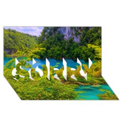 Plitvice, Croatia Sorry 3d Greeting Card (8x4)