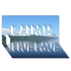 LOCH NESS Laugh Live Love 3D Greeting Card (8x4)