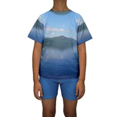 Loch Ness Kid s Short Sleeve Swimwear