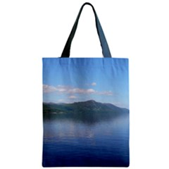 Loch Ness Zipper Classic Tote Bags