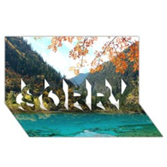 Jiuzhaigou Valley 3 Sorry 3d Greeting Card (8x4)