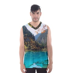 JIUZHAIGOU VALLEY 3 Men s Basketball Tank Top