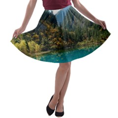 JIUZHAIGOU VALLEY 3 A-line Skater Skirt