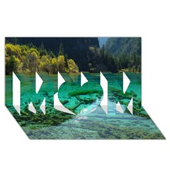 JIUZHAIGOU VALLEY 2 MOM 3D Greeting Card (8x4)