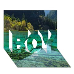 JIUZHAIGOU VALLEY 2 BOY 3D Greeting Card (7x5)