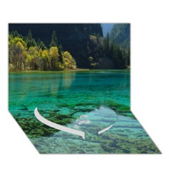 JIUZHAIGOU VALLEY 2 Heart Bottom 3D Greeting Card (7x5)