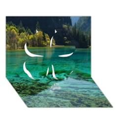 JIUZHAIGOU VALLEY 2 Clover 3D Greeting Card (7x5)