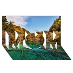 JIUZHAIGOU VALLEY 1 MOM 3D Greeting Card (8x4)