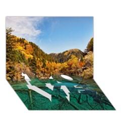 JIUZHAIGOU VALLEY 1 LOVE Bottom 3D Greeting Card (7x5)