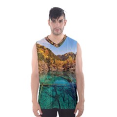Jiuzhaigou Valley 1 Men s Basketball Tank Top