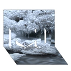 ICE AND WATER I Love You 3D Greeting Card (7x5)