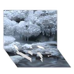 Ice And Water Love Bottom 3d Greeting Card (7x5)