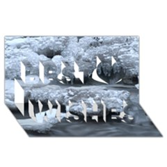 ICE AND WATER Best Wish 3D Greeting Card (8x4)