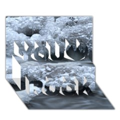ICE AND WATER You Rock 3D Greeting Card (7x5)