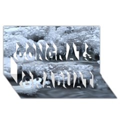 Ice And Water Congrats Graduate 3d Greeting Card (8x4)