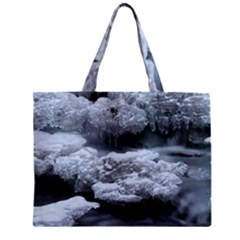 ICE AND WATER Zipper Tiny Tote Bags