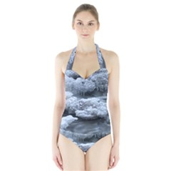 ICE AND WATER Women s Halter One Piece Swimsuit