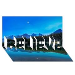 Herbert Lake Believe 3d Greeting Card (8x4)