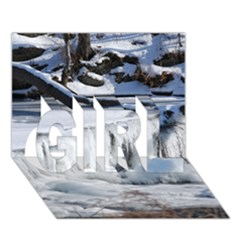 FROZEN CREEK GIRL 3D Greeting Card (7x5)