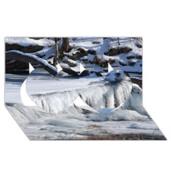 Frozen Creek Twin Hearts 3d Greeting Card (8x4)