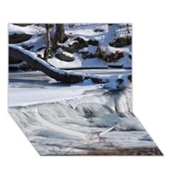 Frozen Creek Heart Bottom 3d Greeting Card (7x5)
