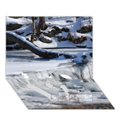 FROZEN CREEK LOVE Bottom 3D Greeting Card (7x5)