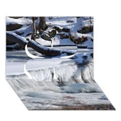 Frozen Creek Clover 3d Greeting Card (7x5)