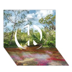 CANO CRISTALES 3 Peace Sign 3D Greeting Card (7x5)