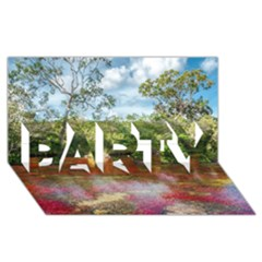 CANO CRISTALES 3 PARTY 3D Greeting Card (8x4)