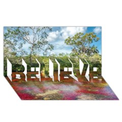 CANO CRISTALES 3 BELIEVE 3D Greeting Card (8x4)