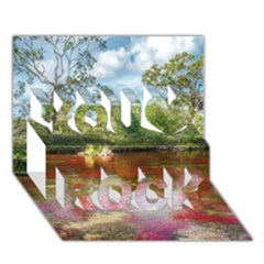 Cano Cristales 3 You Rock 3d Greeting Card (7x5)