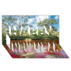 Cano Cristales 3 Happy New Year 3d Greeting Card (8x4)