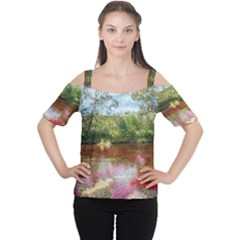 CANO CRISTALES 3 Women s Cutout Shoulder Tee