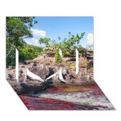CANO CRISTALES 2 I Love You 3D Greeting Card (7x5)