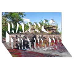Cano Cristales 2 Happy Birthday 3d Greeting Card (8x4)