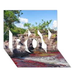 Cano Cristales 2 Boy 3d Greeting Card (7x5)