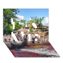 Cano Cristales 2 Love 3d Greeting Card (7x5)