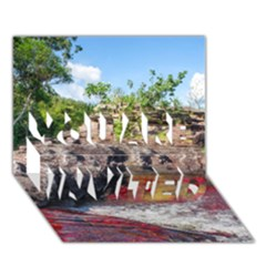 Cano Cristales 2 You Are Invited 3d Greeting Card (7x5)
